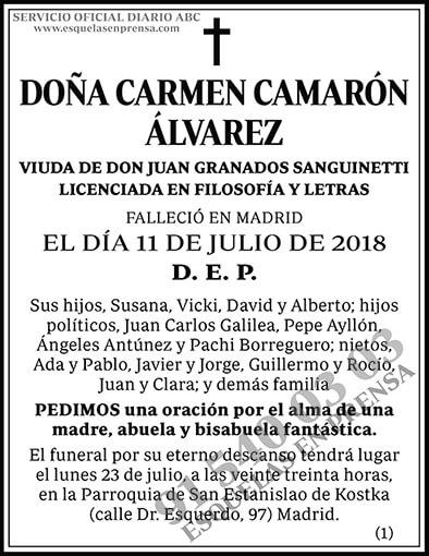 Carmen Camarón Álvarez